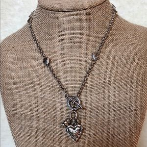 Brighton Toggle-Front Heart Necklace